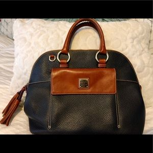 Fall/winter edition navy and brown Dooney & Bourke